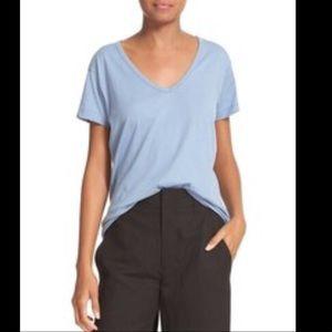 Vince Light Blue V-Neck Top Size XS